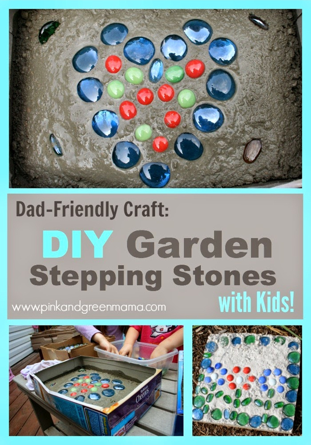 DIY-Garden-Stepping-Stones-Craft-For-Kids-by pink and green mama