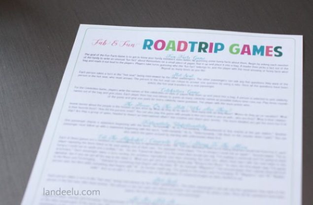 Road Trip Games for Teens and Tweens | landeelu.com Tons of great ideas to get you interacting with your teens as well as an awesome DIY Would You Rather Game!