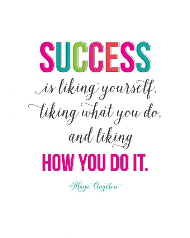 Success (quote by Maya Angelou) | landeelu.com I love this quote! Free printable too.