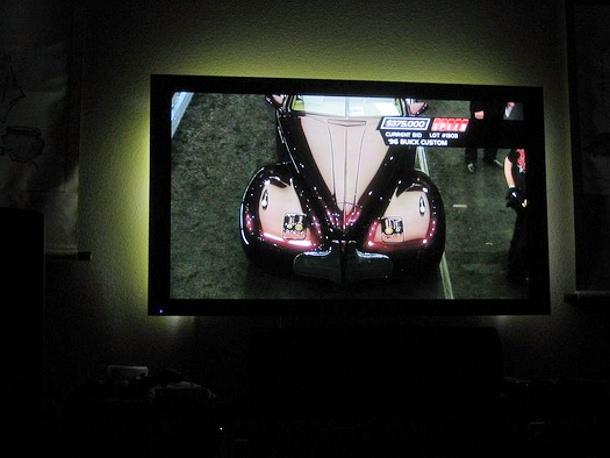 backlit TV with ikea bias lighting via AVS forum
