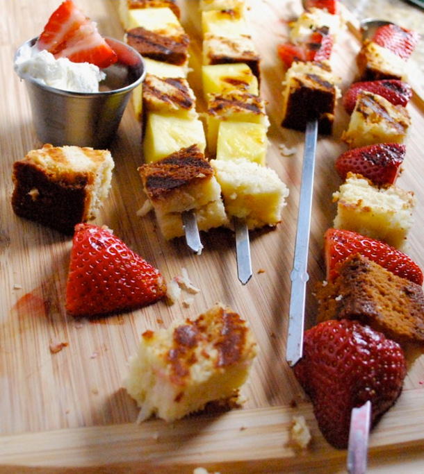 grilled strawberry shortcake skewers by betsylife