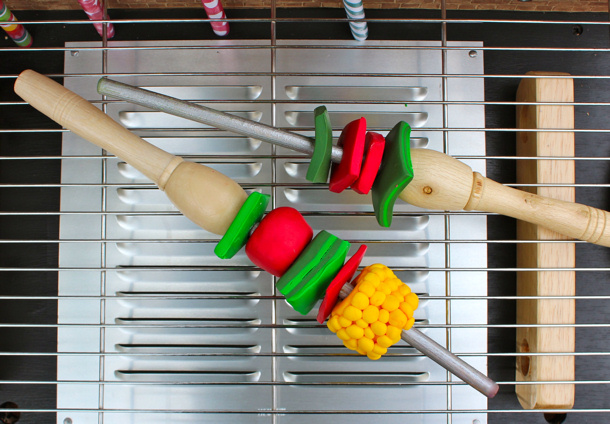 kids outdoor play grill bbq-kebabs by kates crative space