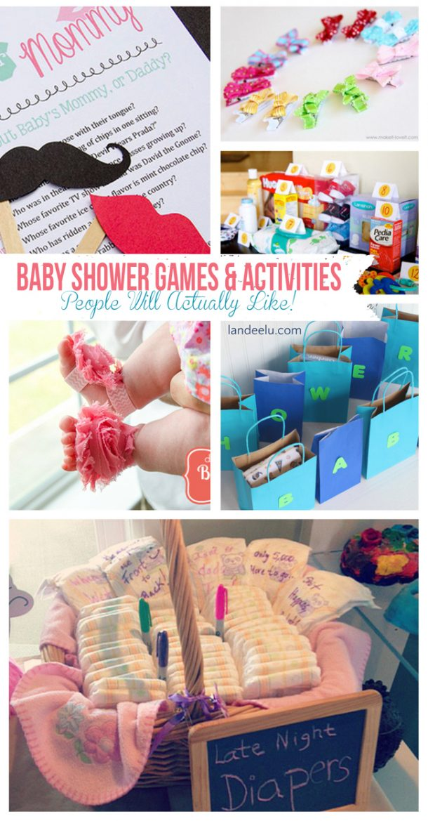 baby shower games and activities that people will actually like