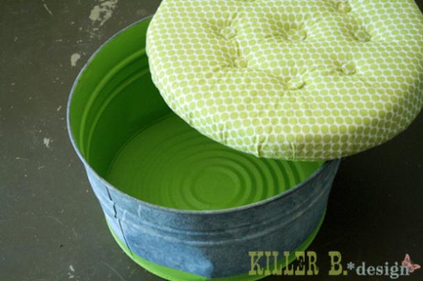 Bucket ottoman via KILLER B