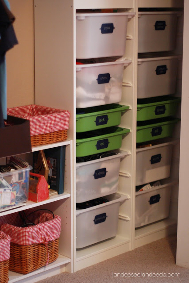 Toy organization ideas for Ikea diy closet