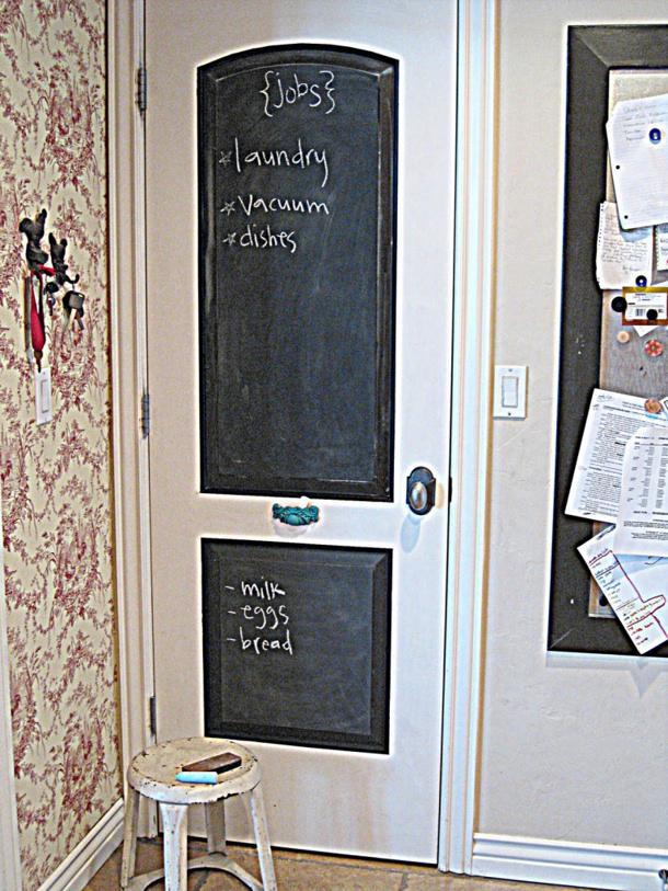 Unique Chalkboard Door via Moorepix