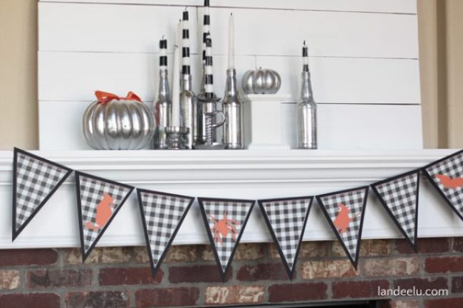 Plaid Halloween Banner
