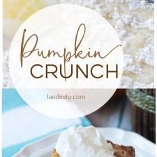 Pumpkin Crunch Recipe | landeelu.com The perfect fall recipe... like pumpkin pie but with a yummy twist! So easy too! #pumpkindessert #pumpkincrunch #falldessert #pumpkin