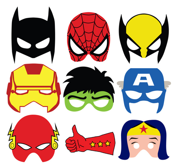 Superheroes Masks Photo Props