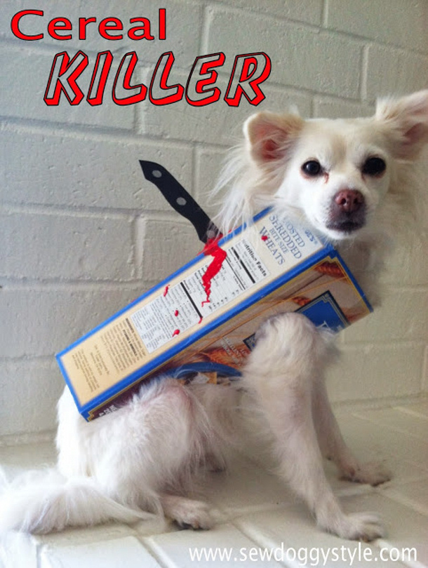 Pet Cereal Killer DIY Costume Tutorial via Sew Doggy Style : diy puppy costume  - Germanpascual.Com