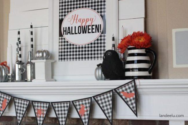 Cute Halloween Mantel Idea