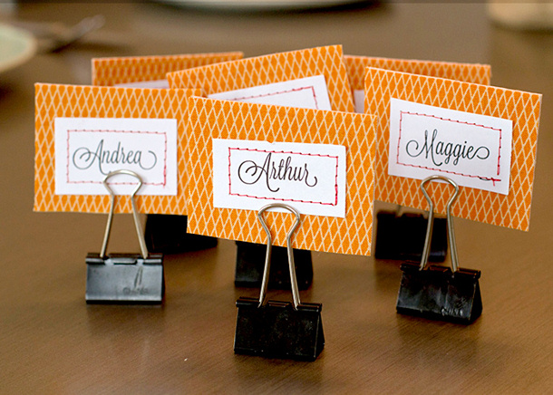 Easy Name Placecard Tutorial via Andreas Notebook