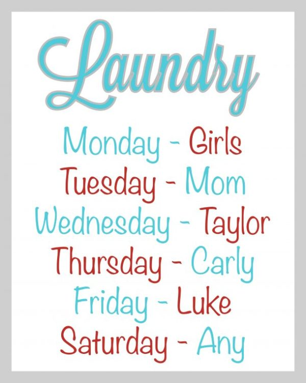 Have a laundry schedule