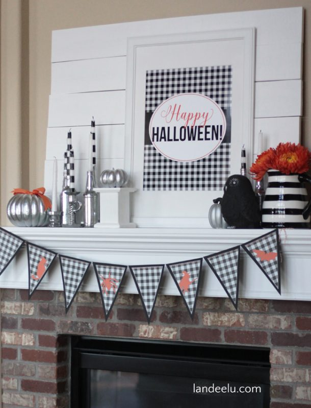 Happy Halloween!  Buffalo Check Halloween Free Printable | Landeelu