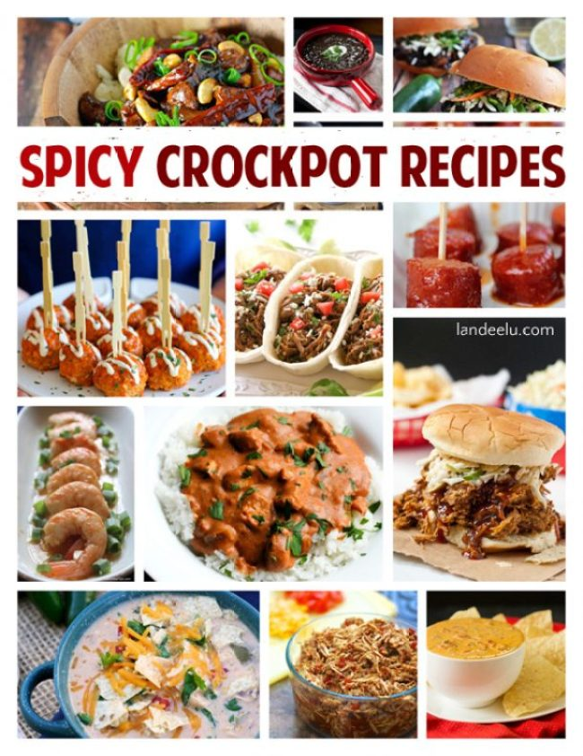 So many delicious spicy crockpot recipes for your slow cooker! Perfect recipes for busy weeknight meals!