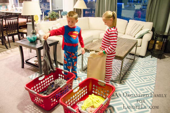 teaching children to sort and do their own laundry
