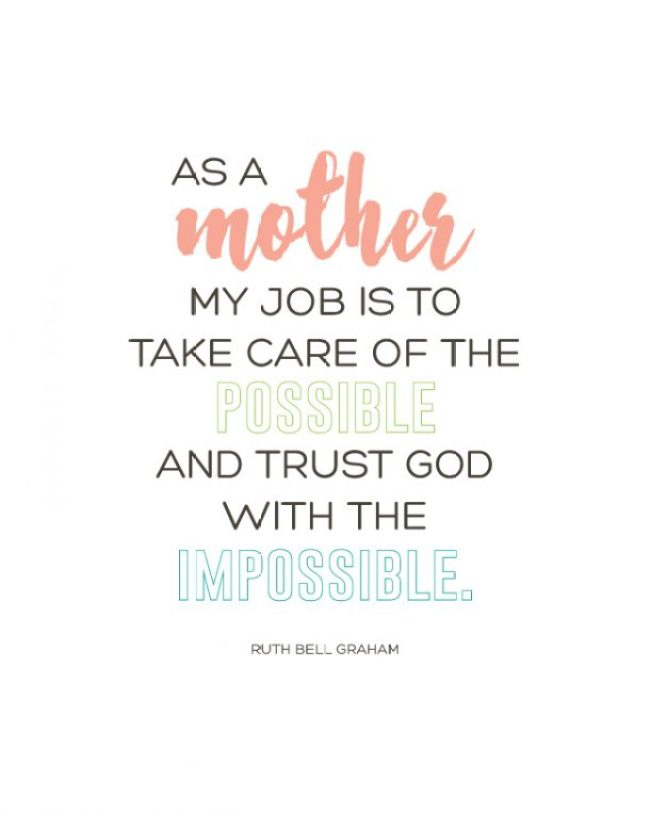 As A Mother Quote | Free Printable!