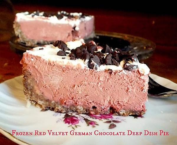 Frozen Deep Dish Red Velvet German Chocolate Pie restless chipotle