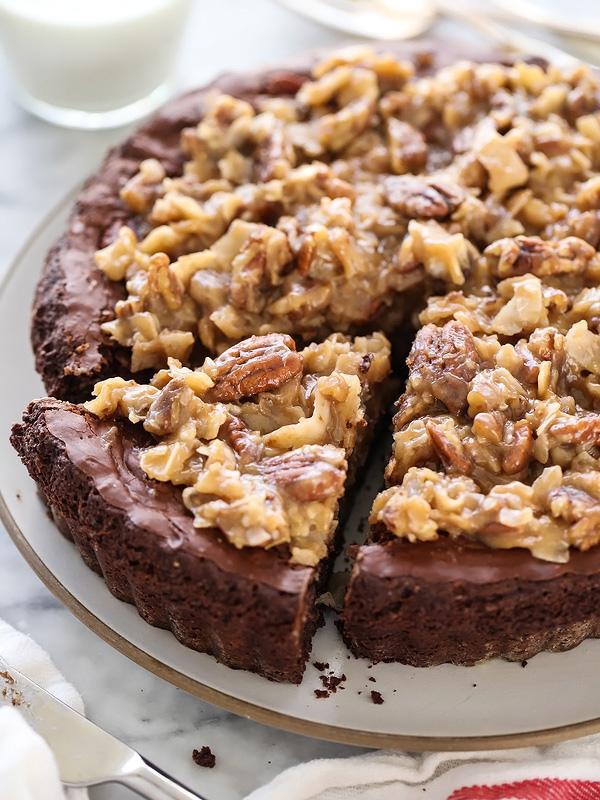 German Chocolate Brownie Pie Recipe foodiecrush