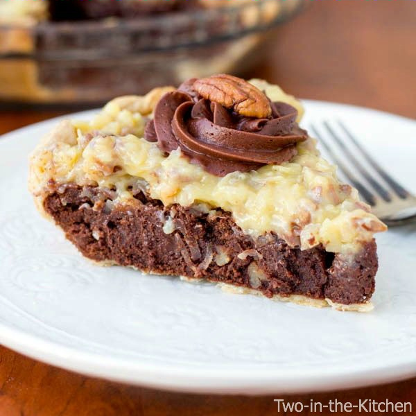 German Chocolate Fudge Pie Recipe Two in the Kitchen