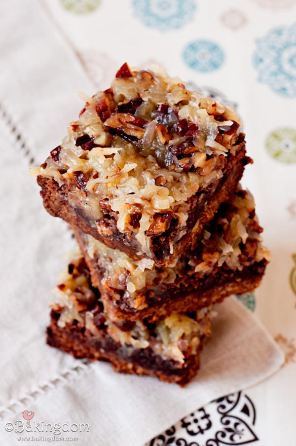 German-Chocolate-Pecan-Brownies bakingdom