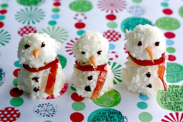 Snowman Macaroons Diamonds for Dessert
