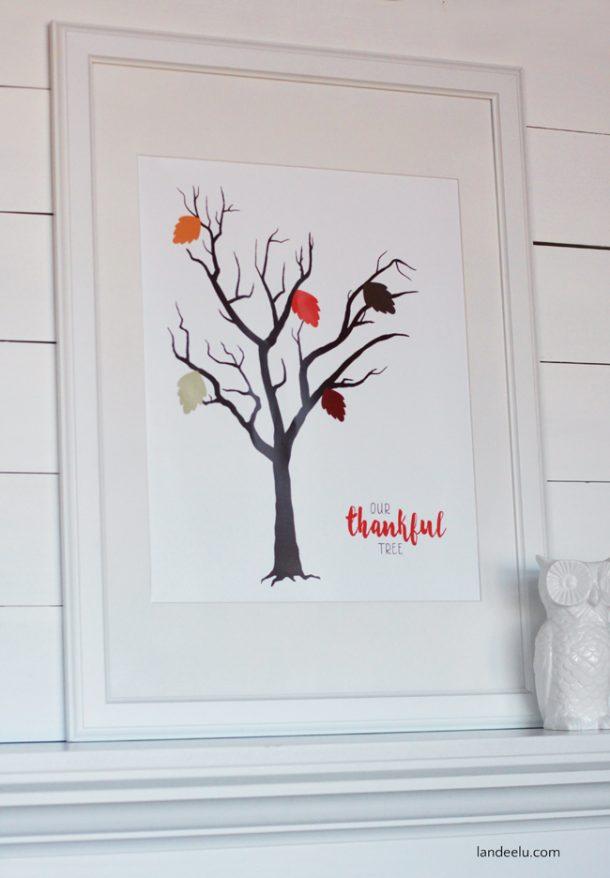 photograph relating to Thankful Tree Printable named Grateful Tree Printable