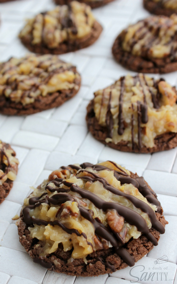 german-chocolate-cookie a dash of sanity