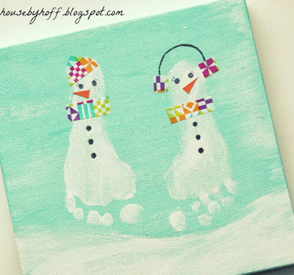 super-sweet snowman feet house by hoff
