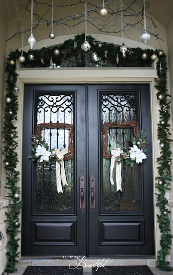 Christmas porch silver white and ivory janis all things beautiful