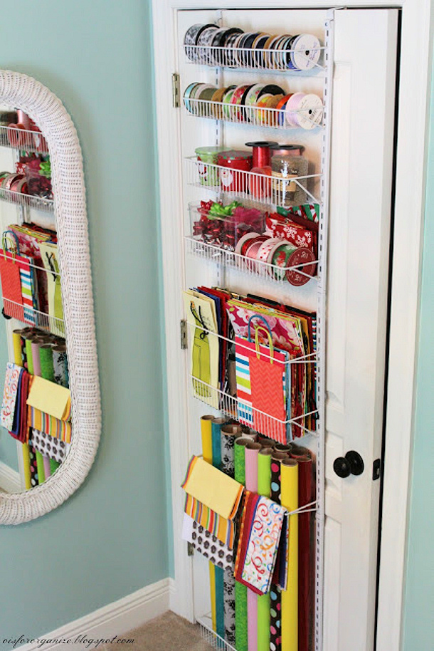 Giftwrap Organizer via O is for Organize