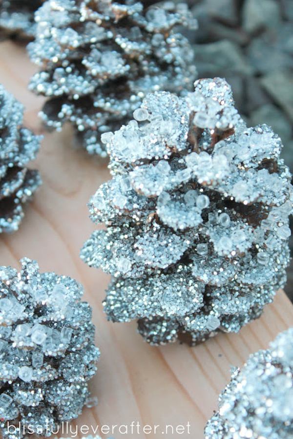 Glitter Pinecones blissfully ever after