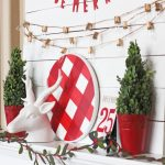 BuffalBuffalo Check Christmas Mantel I LOVE buffalo check! So festive and fun! Easy Christmas mantel decor ideas.o Check Christmas Mantel I LOVE buffalo check! So festive and fun! Easy Christmas mantel decor ideas.