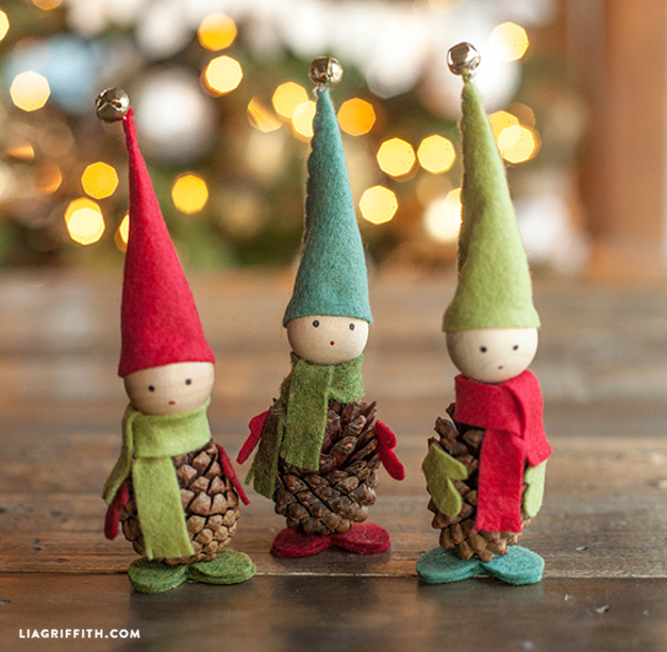 Pine_Cone_Felt_Elves Lia Griffith