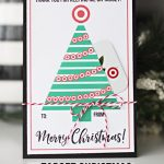 Cute printable card to give teachers a Target gift card for Christmas! Free printable