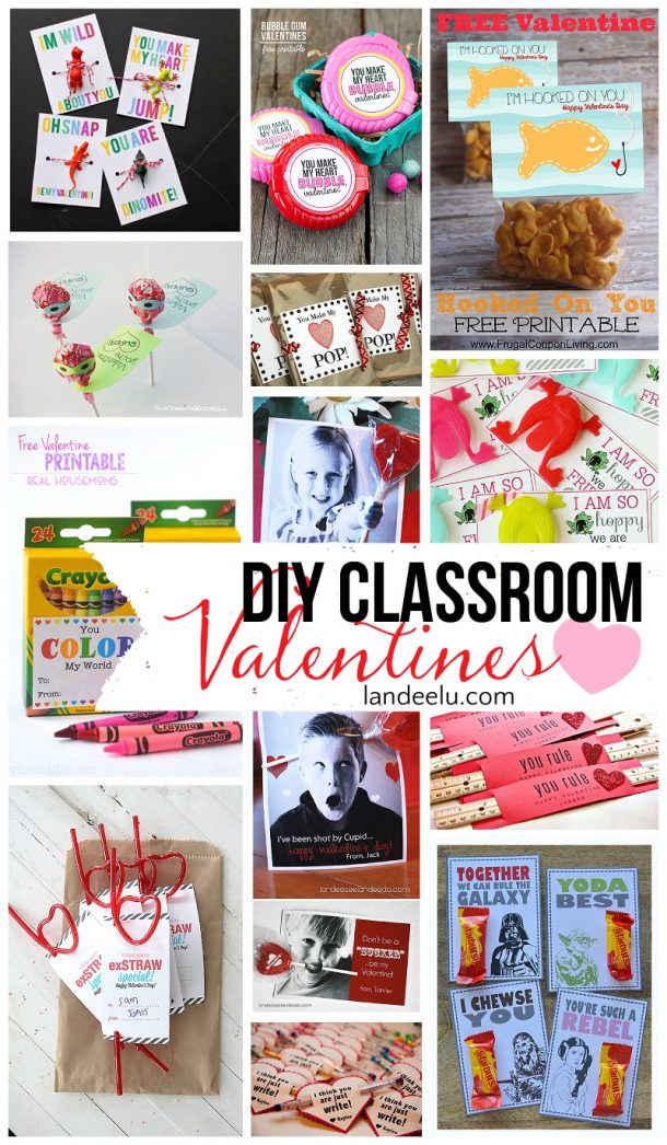 Tons of printables, crafts and ideas for DIY Valentines! Your child will feel like a rockstar handing these out!