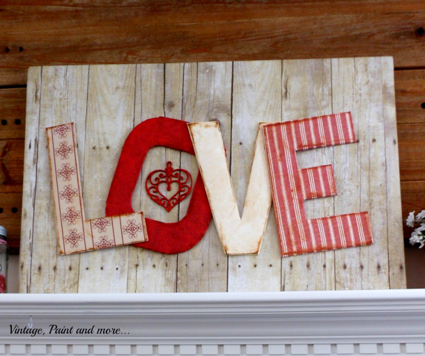 DIY Love sign made from paper Vintage Paint and More