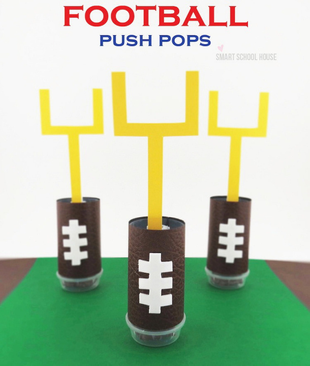 Football Push Pops via Smart Schoolhouse
