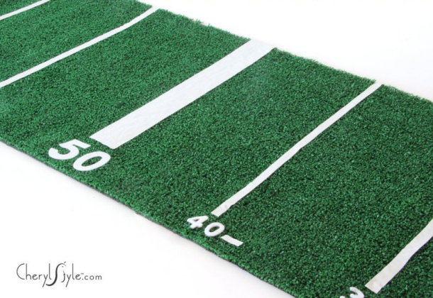 Game Day Turf DIY Table Runner Every Day Dishes