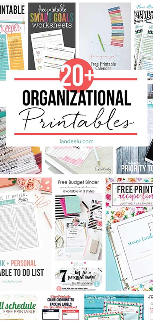 TONS of awesome organizational printables to keep track of everything! #organizing #organizingprintables #organizingtips #howtoorganize