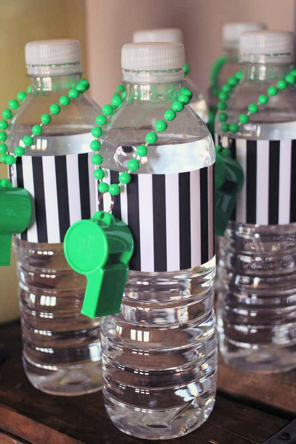 Referee Water Bottles Catch My Party