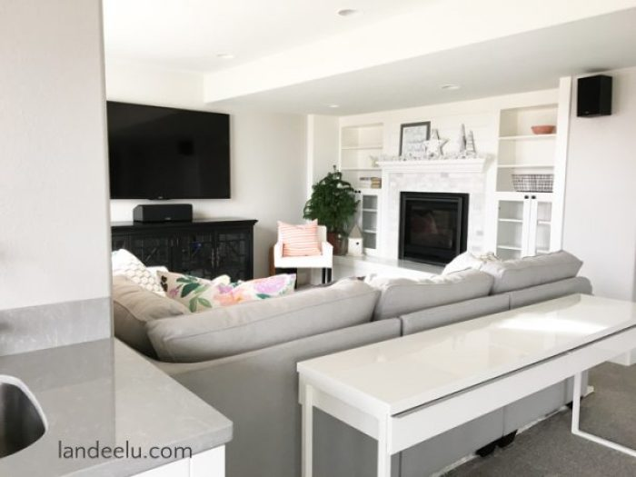 Finishing A Basement: The Family Room | landeelu.com