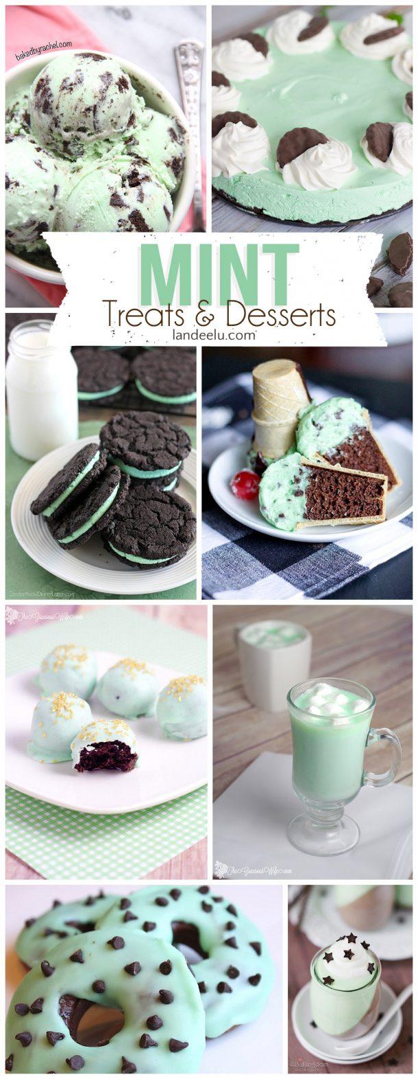 Mint Desserts and Treats-- the Yummiest Way to GO GREEN! | landeelu.com