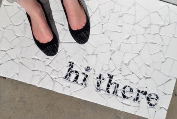 Mosaic Tile Doormat DIY Annie Made
