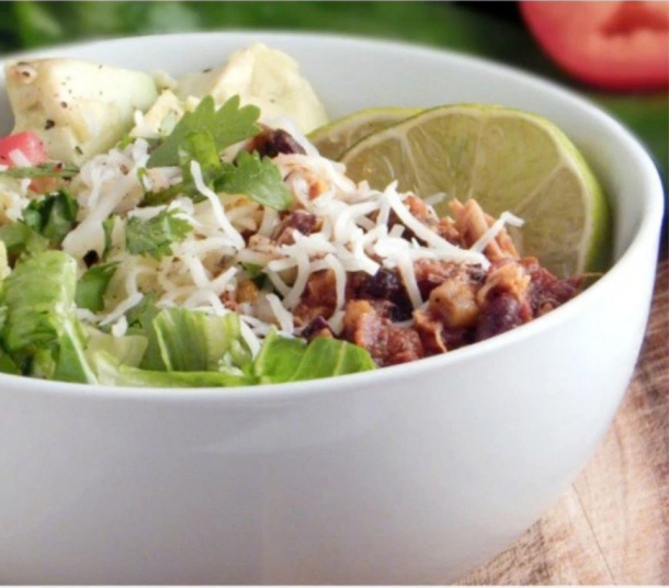 Slow Cooker Clean Eating Burrito Bowls