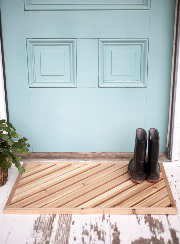 Wooden Slats Doormat DIY the merry thought