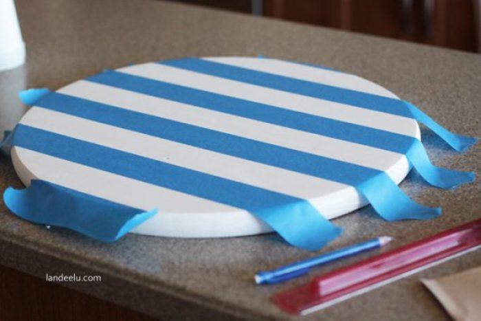 painters tape stripes