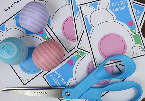 Printable Bunny Cards for EOS Lip Balm