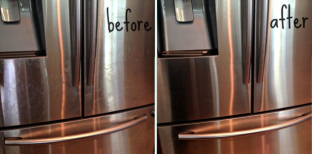 DIY Natural Stainless Steel Cleaner via The Crunchy Chronicles