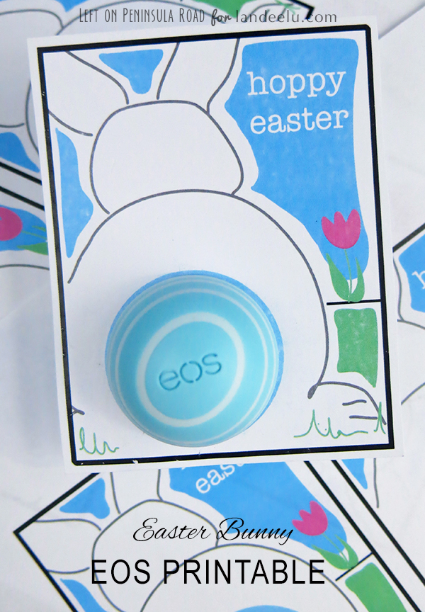 Bunny Printable for EOS Lip Balm